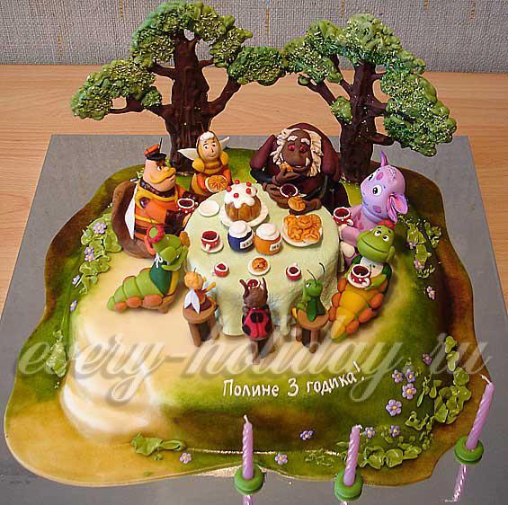 Украшение детских тортов
