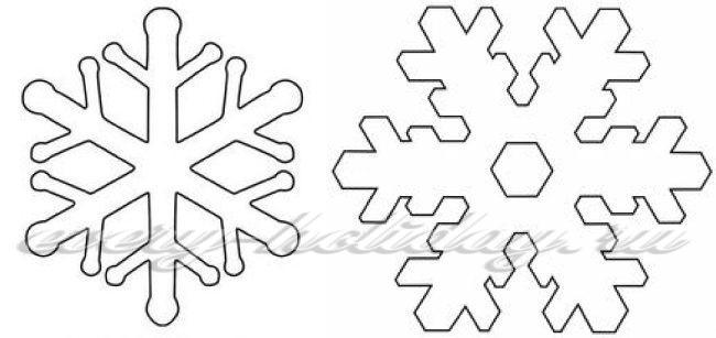 Снежинки и фетра выкройка