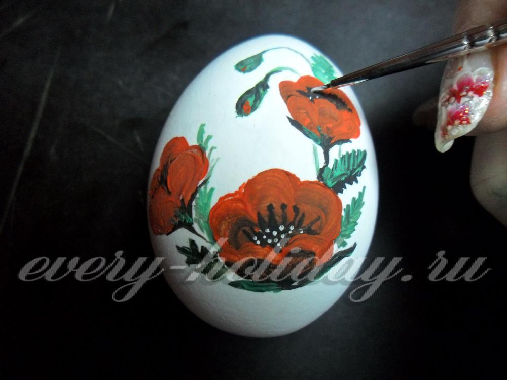 Роспись яиц для гуашью