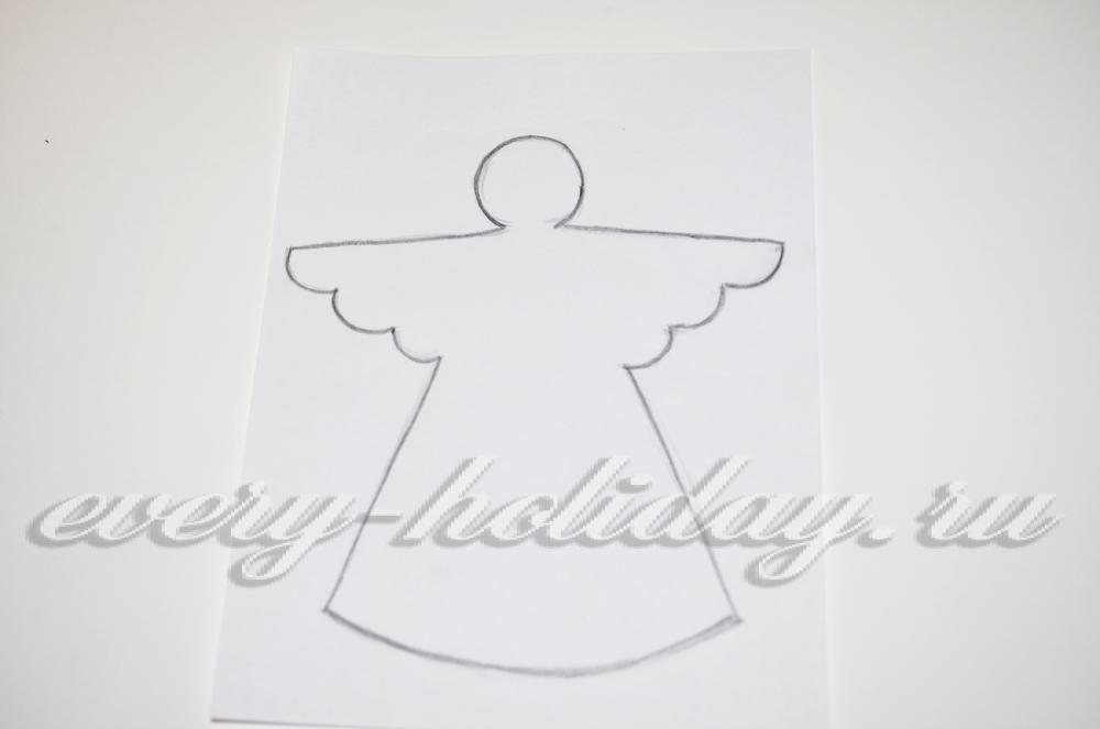 Ангелочек из фетра своими руками с выкройками 11