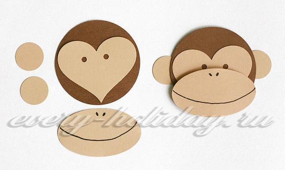 Шаблон обезьяны Букет на бокале своими руками