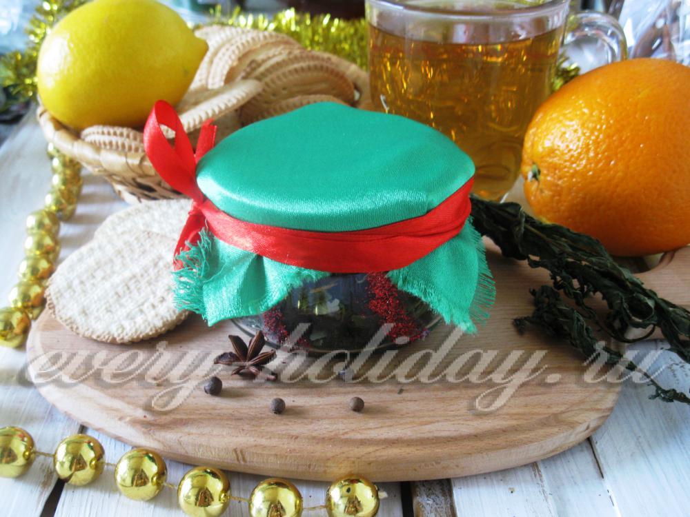Чайная смесь своими руками в подарок