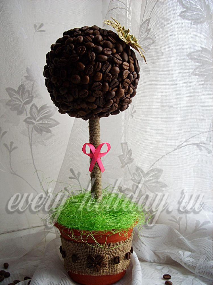 Мастер класс кофейное дерево пошагово