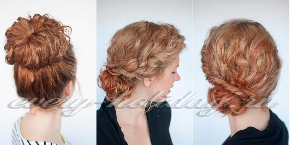 Простая прическа на средние волосы сделать самой себе