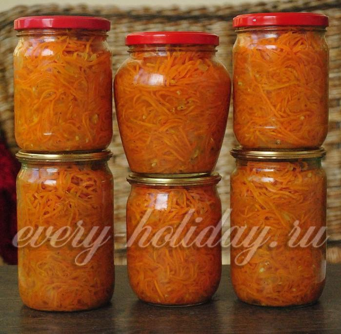 консервация салатов рецепты из моркови