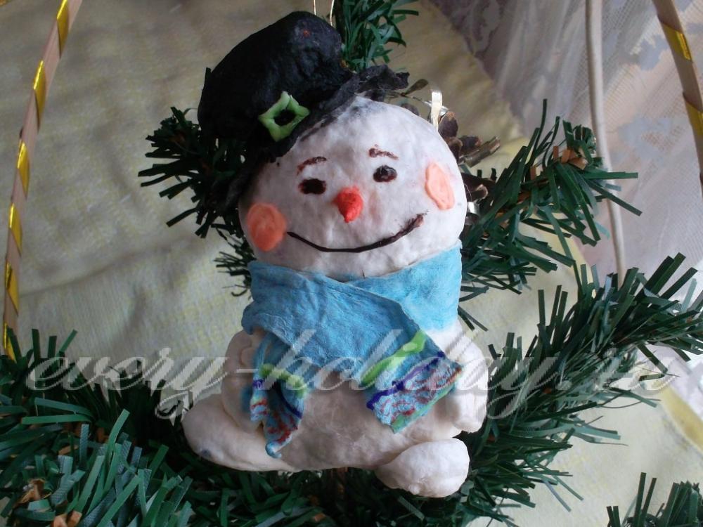 Как сделать снеговика из ваты своими руками фото 1112