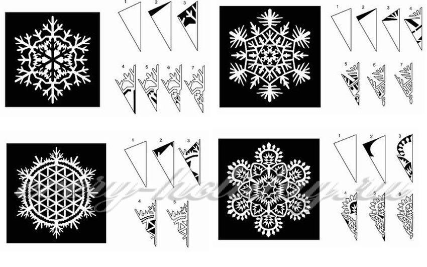 Плоская снежинка из бумаги своими руками