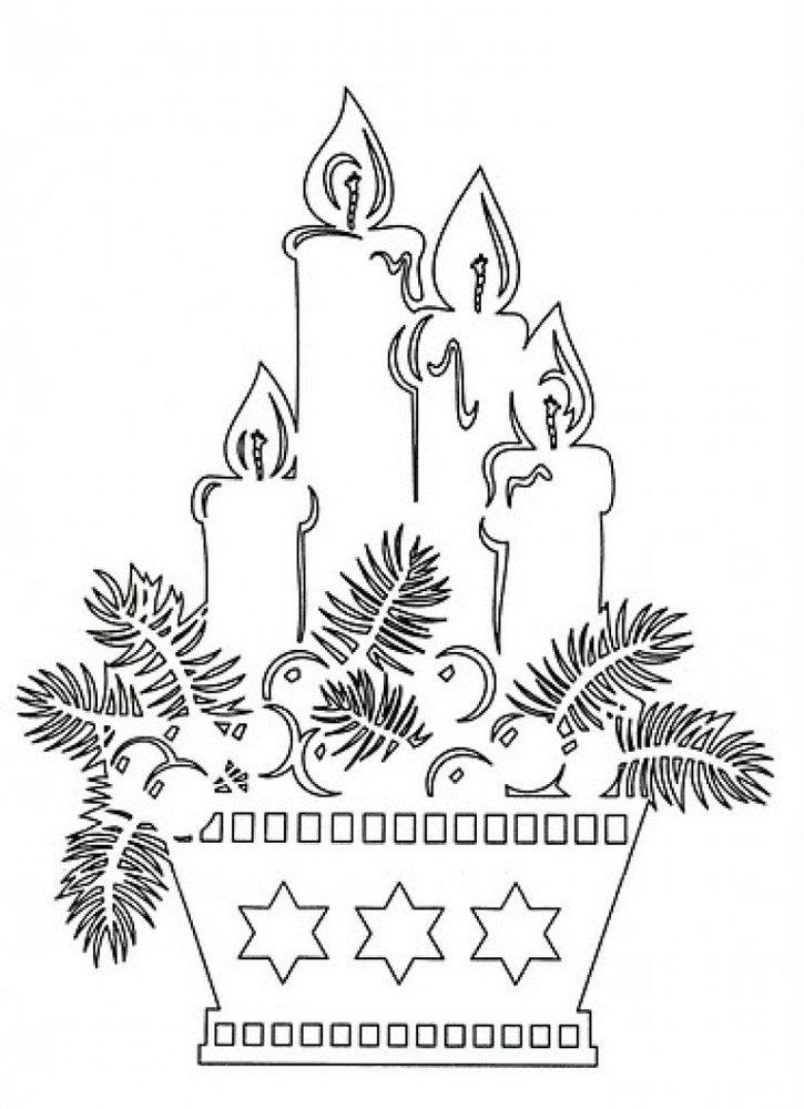 Вытынанки схемы и шаблоны новогодние