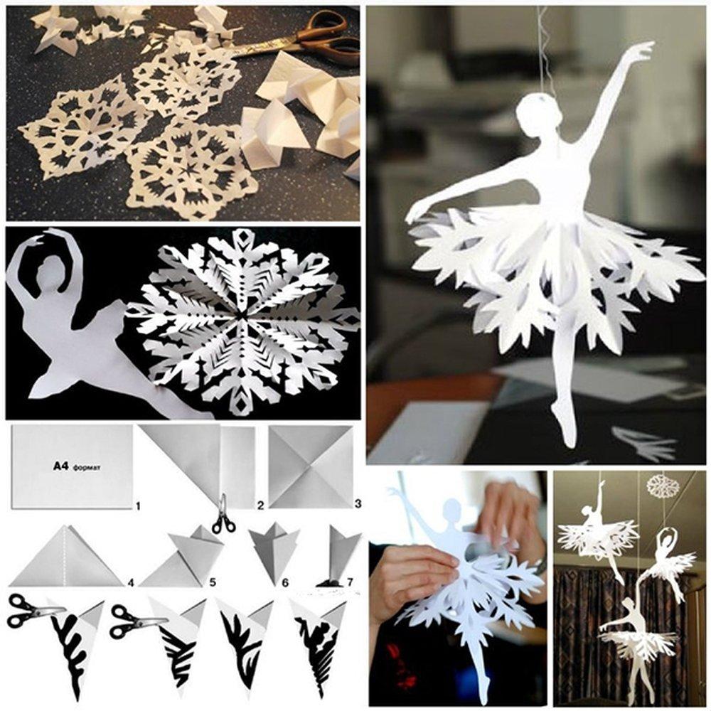 Схема объемной снежинки своими руками из бумаги схемы