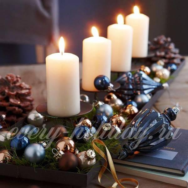 Как украсить свечу на новый год своими