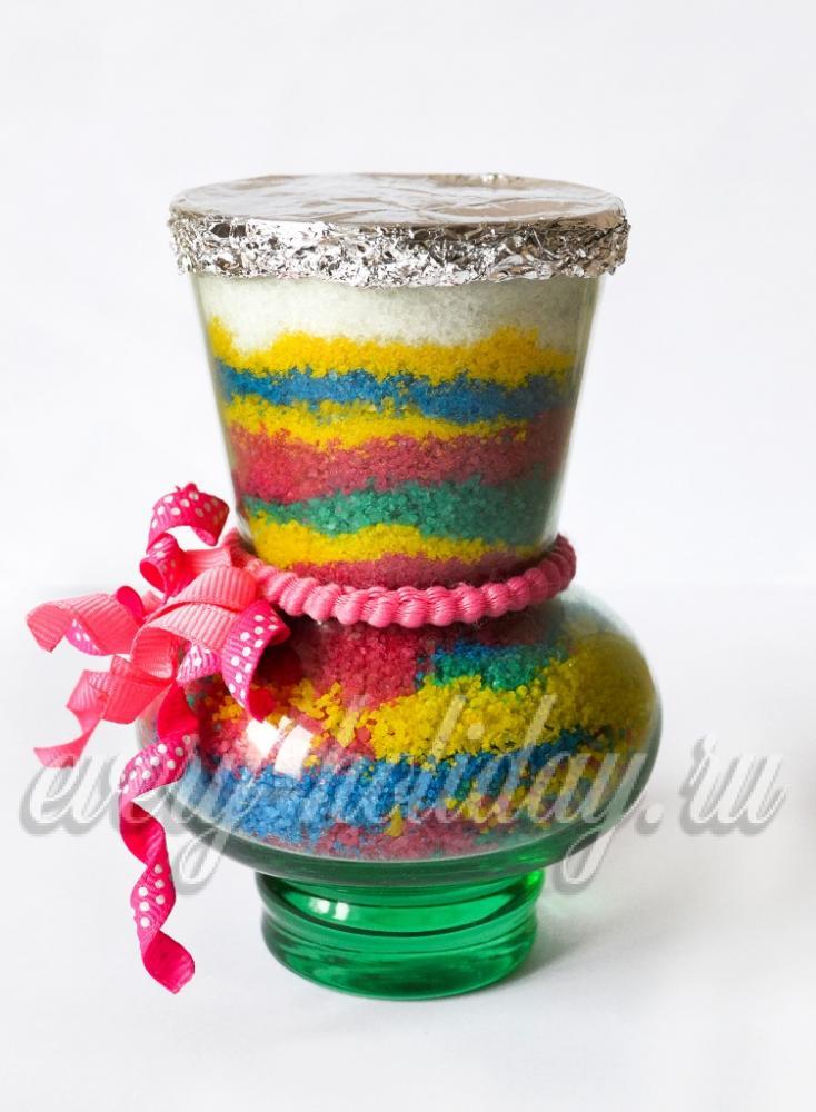 Цветной песок из соли своими руками 72