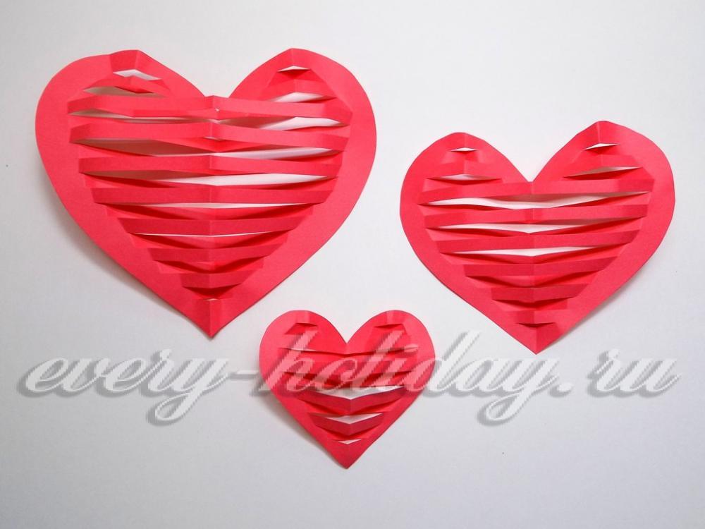 Сделать объёмное сердце из бумаги своими руками 80