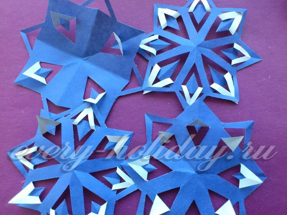 Как сделать снежинки-киригами