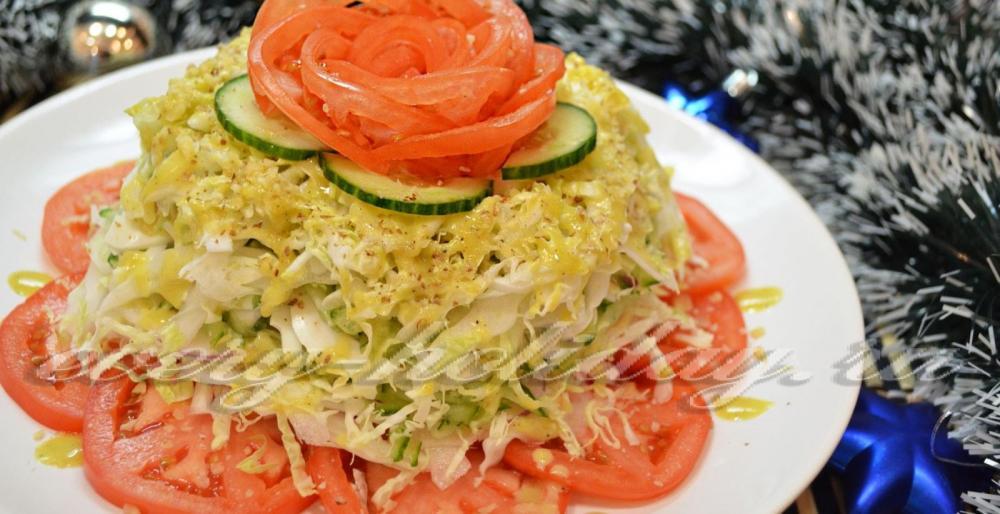 рецепты салатов без мяса с фото