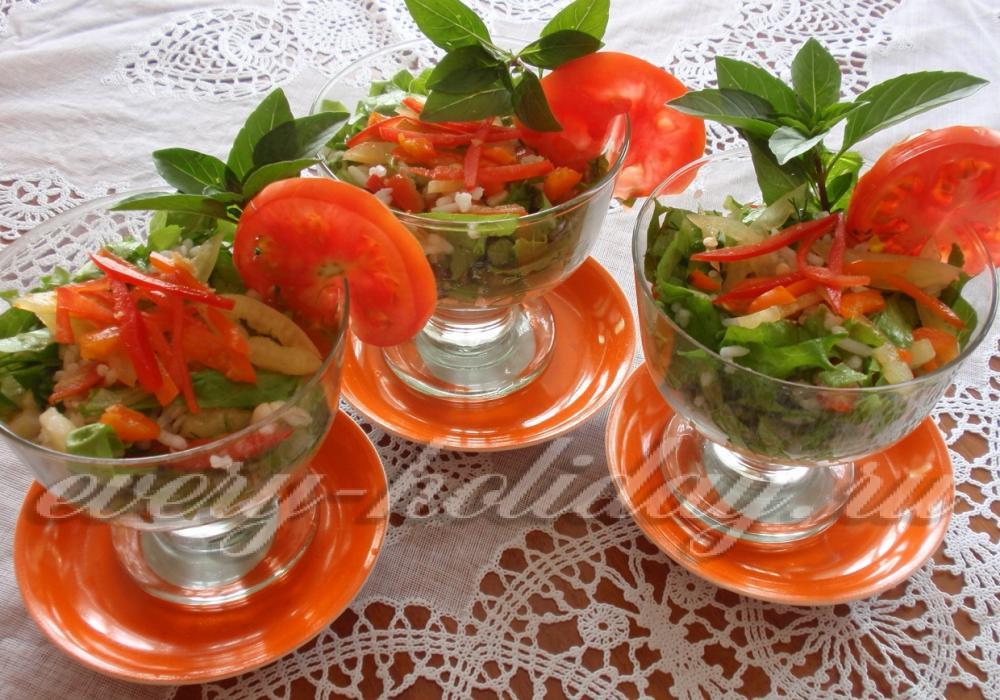 Салаты в креманке рецепт с пошагово