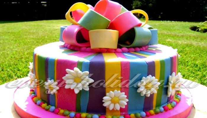 Торт с поздравлением с днем рождения