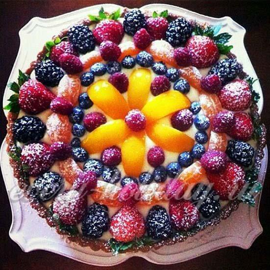 Украшение тортов ягодами фото