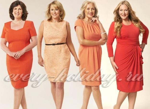 Фото платьев для женщин 55 лет