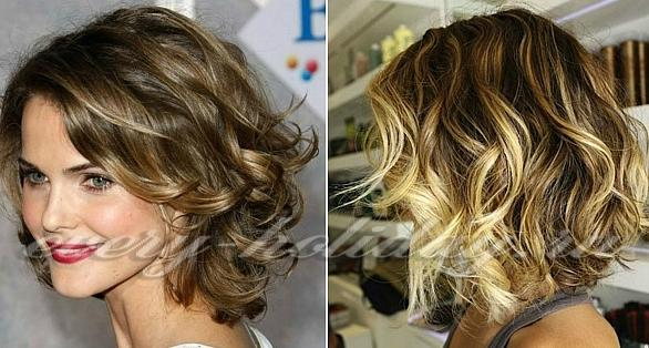 Прическа небрежные локоны на средние волосы фото