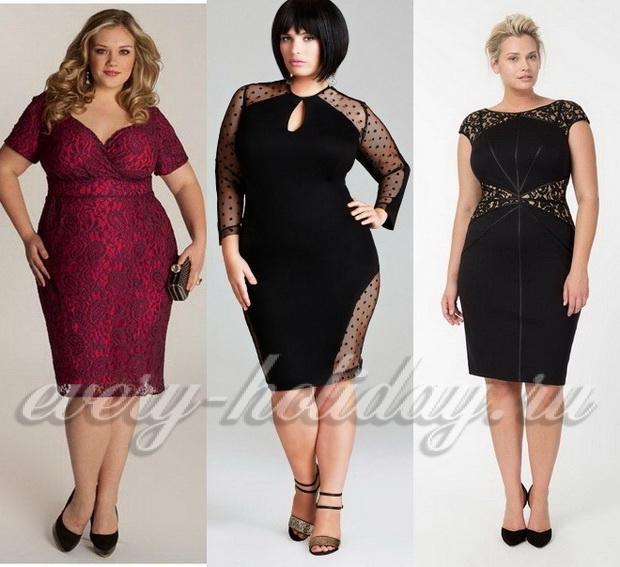 Модные короткие платья для полных