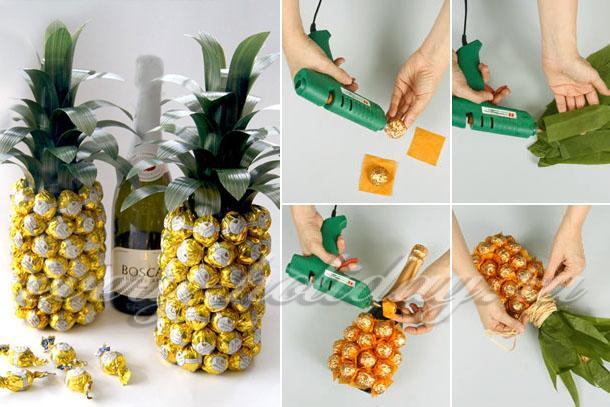 Поделки с конфетами своими руками новый год