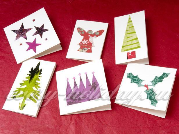 Новогодние открытки своими руками с детьми пошаговое