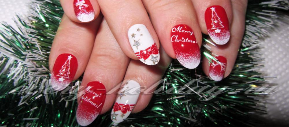 Ногти маникюр новогодний