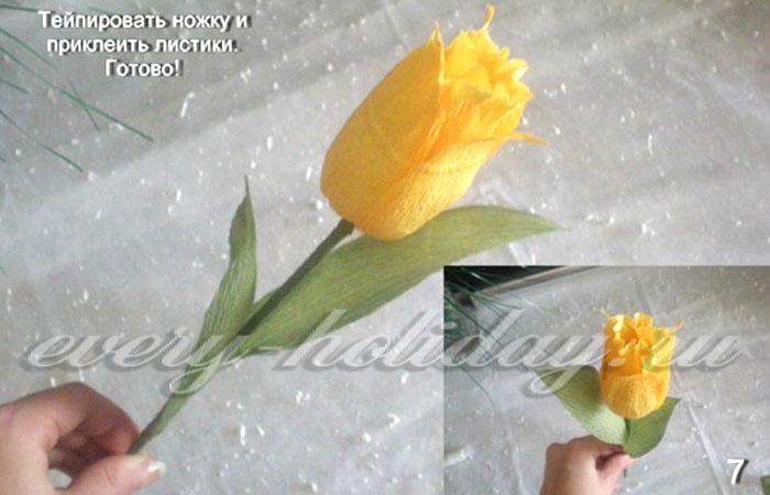 Мастер класс тюльпаны из бумаги и конфет своими руками