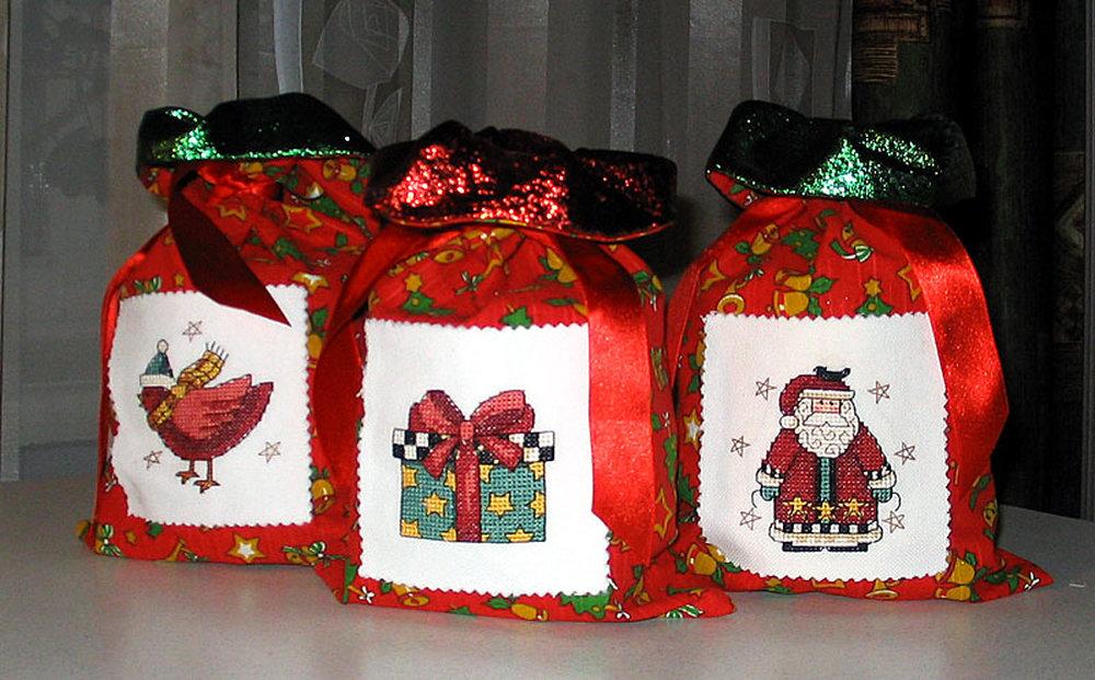 Сшить упаковку для подарка