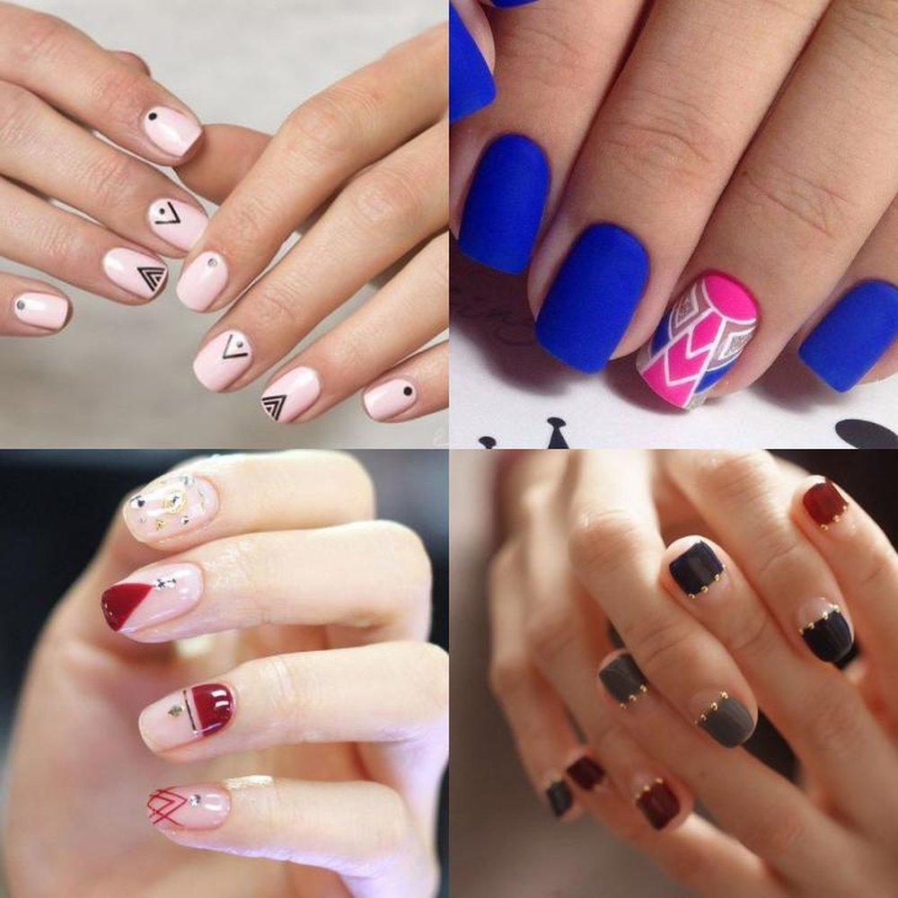 Дизайны на короткие ногти 2018