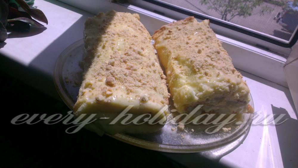 Торт медовик с заварным кремом рецепт с пошагово 9