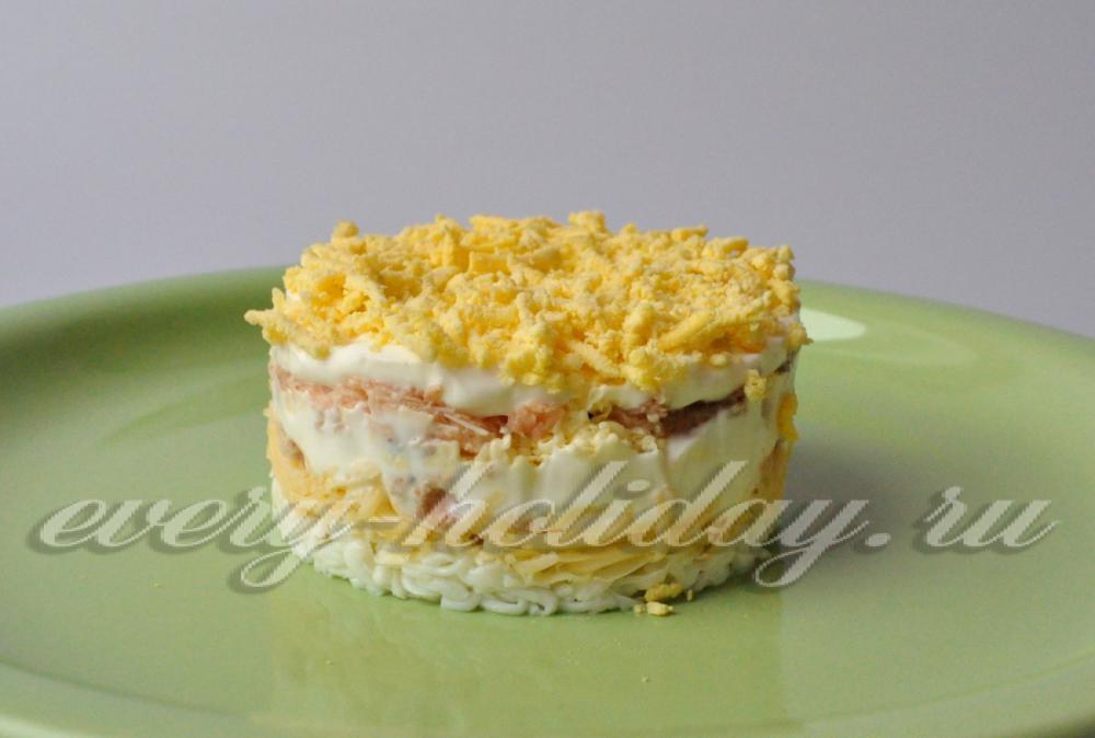 мимоза без сыра рецепт с фото