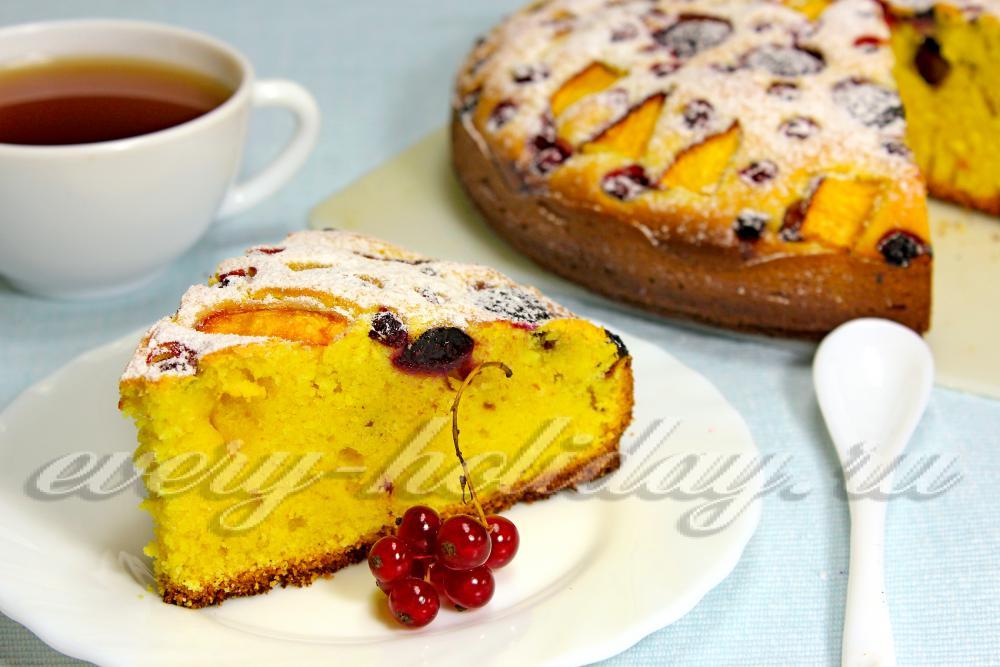 рецепт пирога на кефире с ягодами в духовке