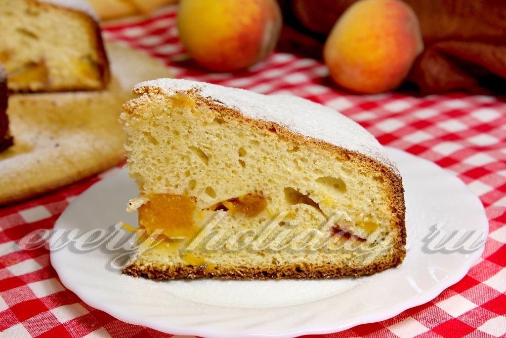 Шарлотка с персиками в мультиварке рецепты 131