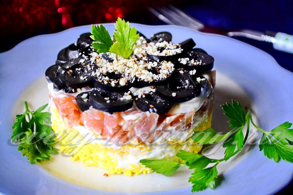Семга по царски рецепт с салат