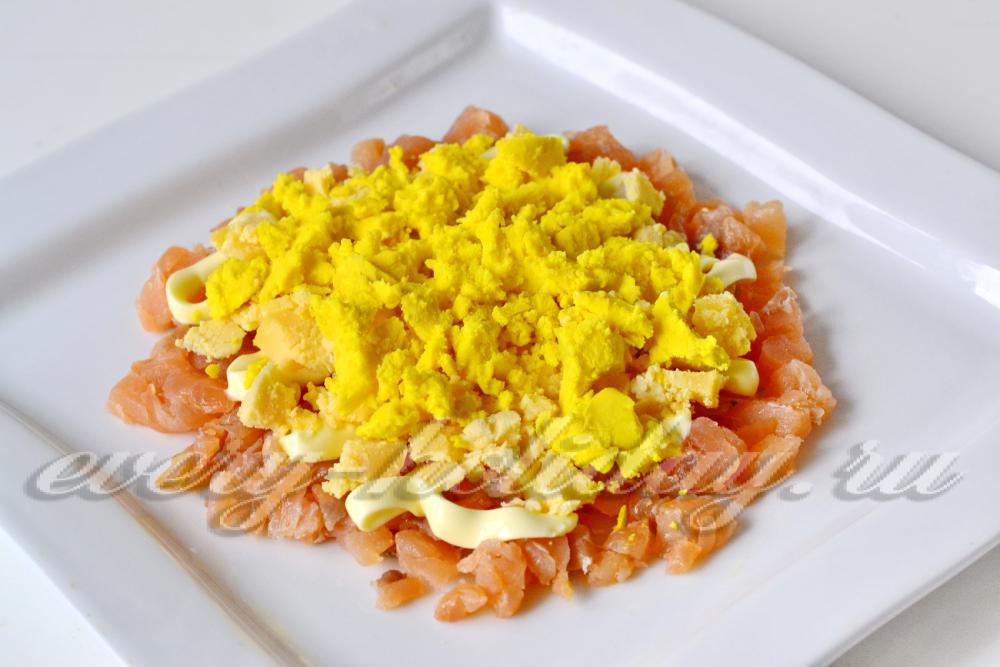 Салат с красной рыбой и помидорами рецепт с очень 181