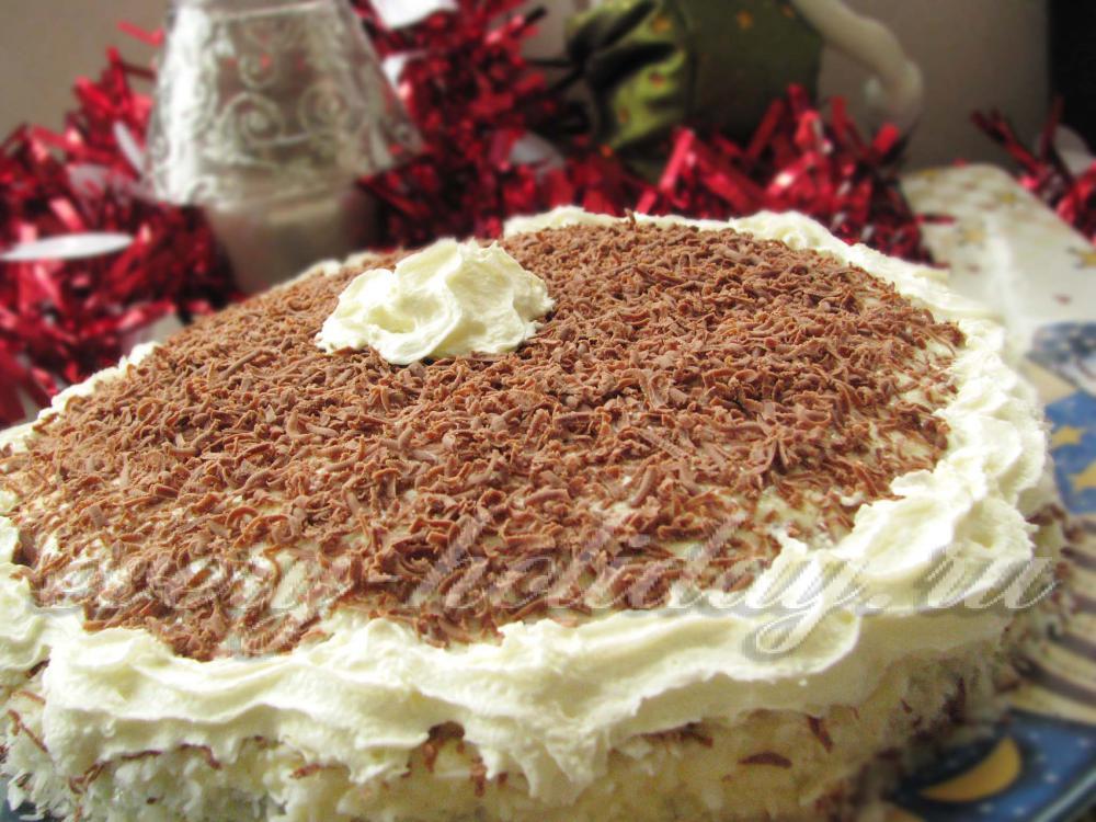 Бисквитный торт по домашнему