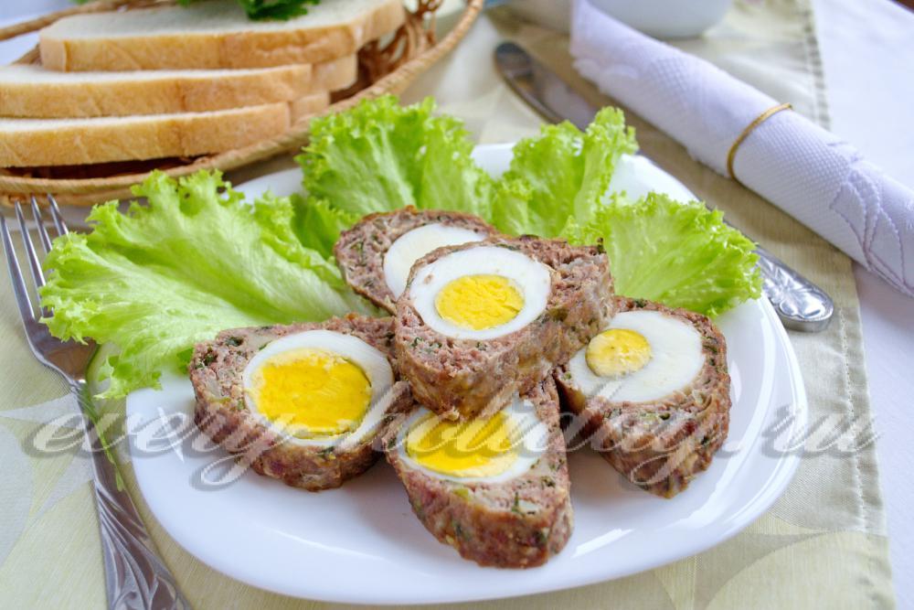 рецепты рулета из фарша с яйцом и сыром с фото