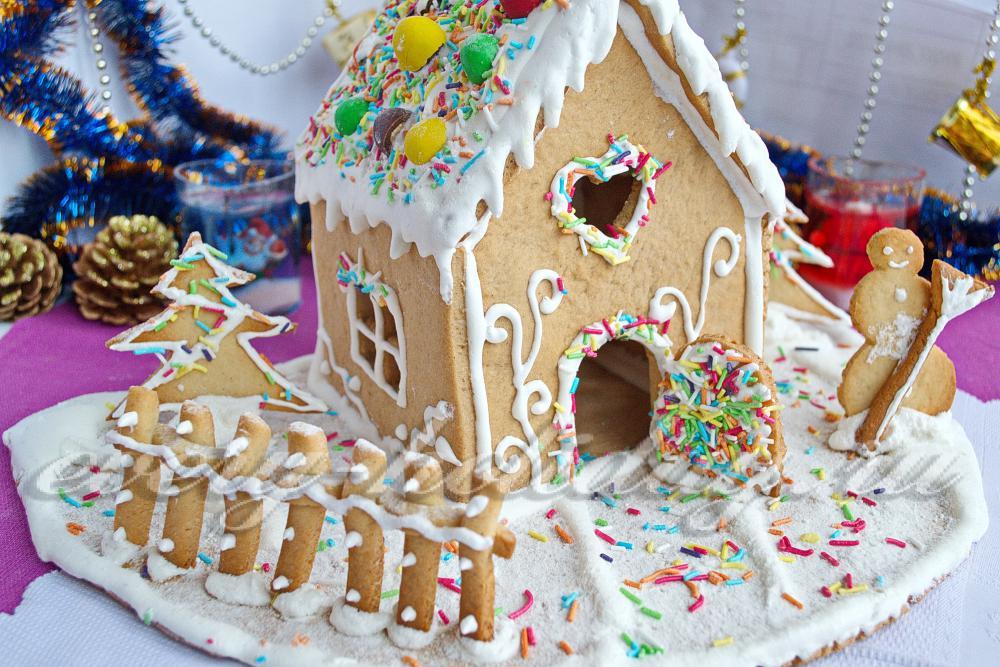 Как сделать пряничный домик в домашних 363