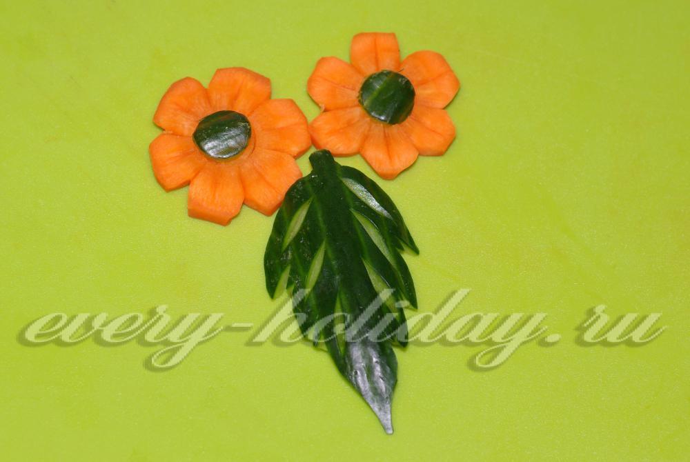 Сделать цветы из моркови своими руками 84