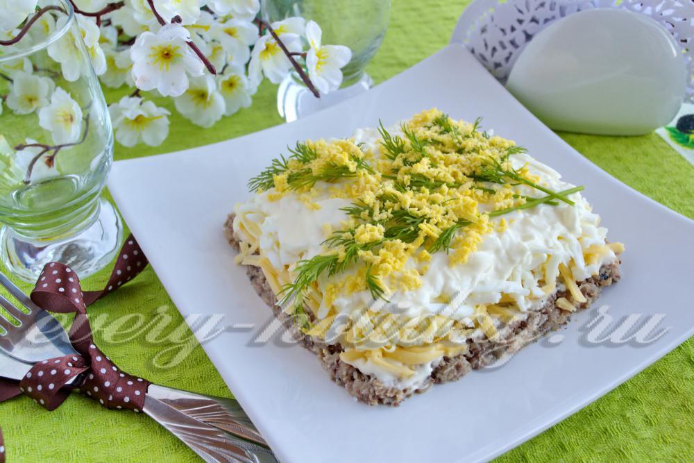 рецепт салат мимоза с сардиной в масле рецепт