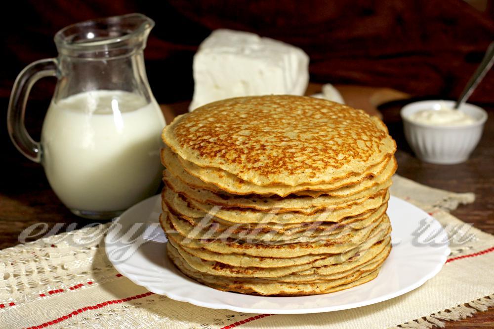 рецепт блинов на кефире с молоком