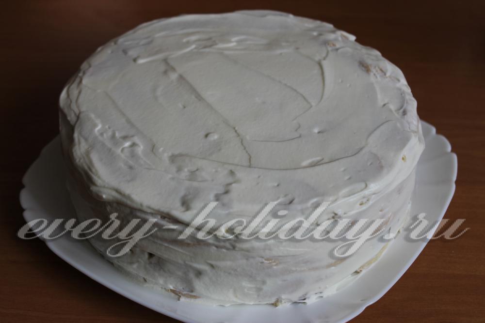 торт поленница из заварного теста со сметанным кремом рецепт