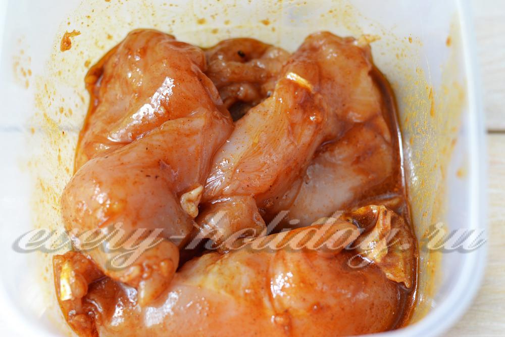 Запечь филе курицы