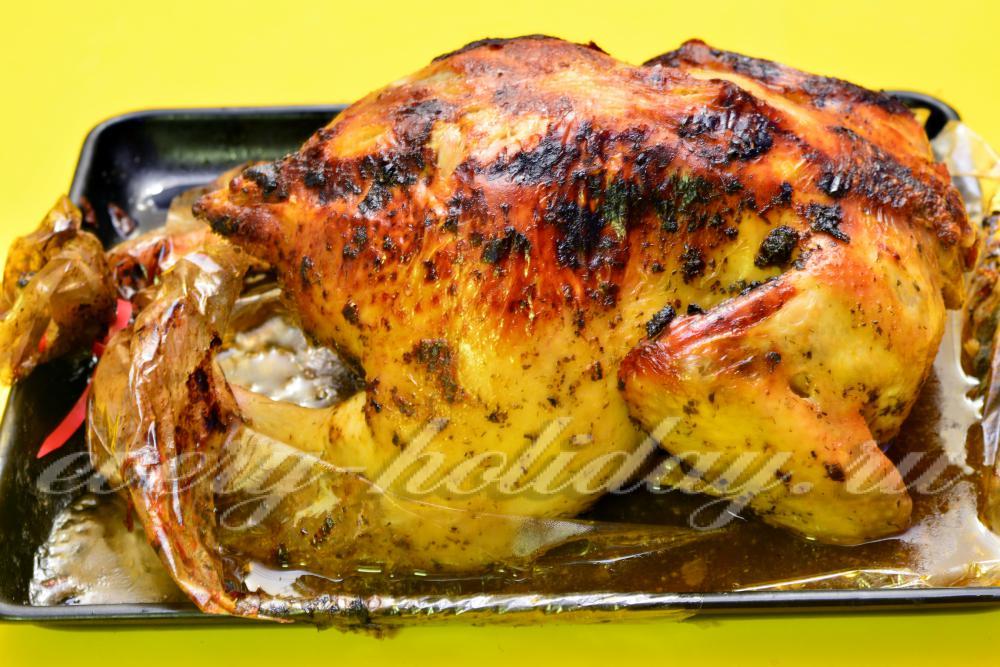 курица фаршированная гречкой в духовке рецепты с фото