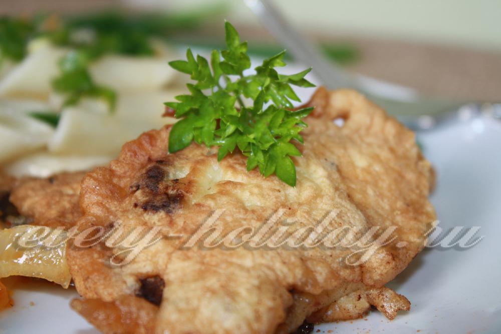 отбивные из говяжьей печени в кляре рецепт с фото