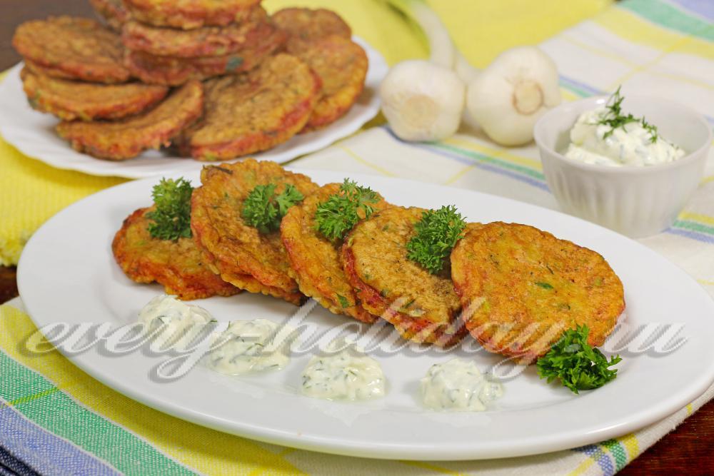 Оладьи из кабачков пошаговый рецепт с манкой