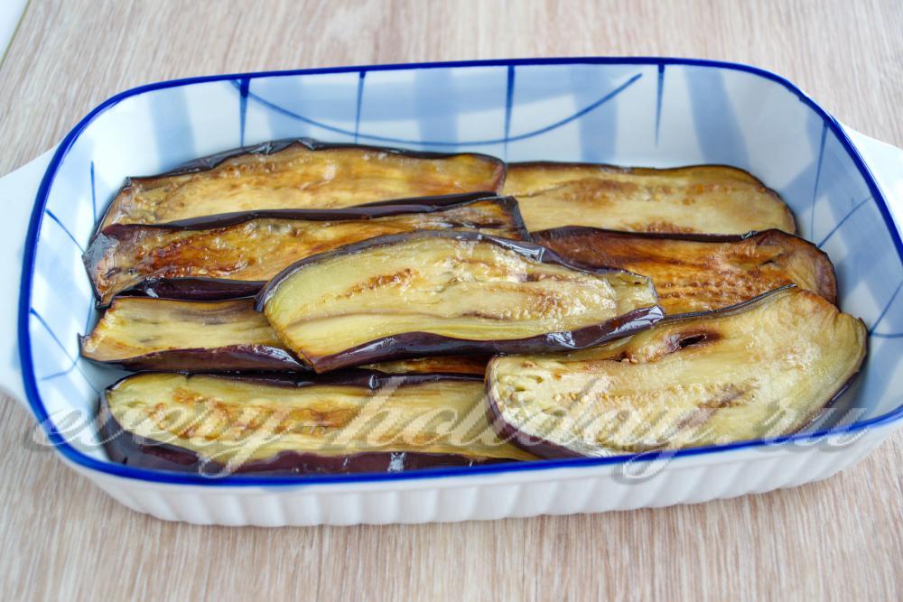 баклажаны кольцами рецепт с фаршем в духовке