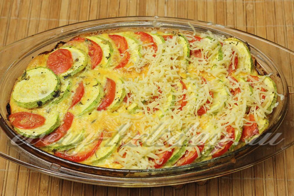 Кабачки с помидорами и сыром в духовке пошаговый рецепт с фото