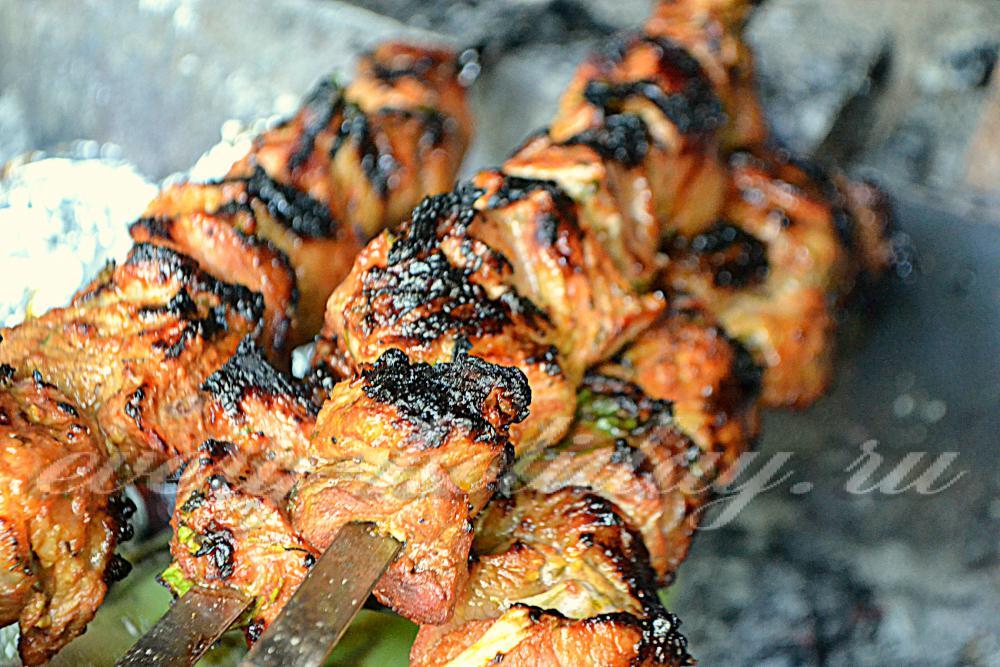 Рецепт сочного шашлык из свинины